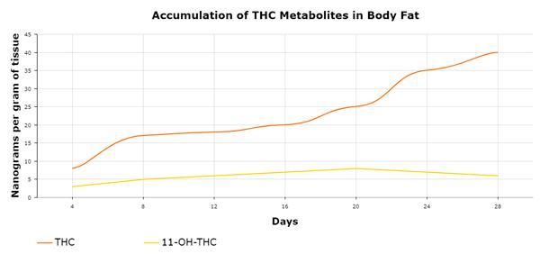 THC fat distribution chart